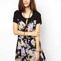 Minkpink Dress In Paper Cut Floral Print