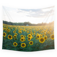 Society6 Sunflower Day Wall Tapestry