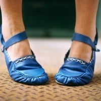 $225.00 Soft Hand Made Leather MaryJane Moccasins Made by spirocreations
