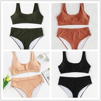 Swimsuit New Arrival Sexy Hot Summer Beach Ladies Swimwear High Waist Bikini [100110270479]
