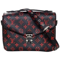 Louis Vuitton Black and Red Monogram Infrarouge Pochette Metis Messenger Bag
