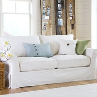 PB Comfort Roll Slipcovered Box-Edge Cushion Sofa