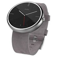 Motorola Moto 360 Smart Watch Leather - Stone : Target