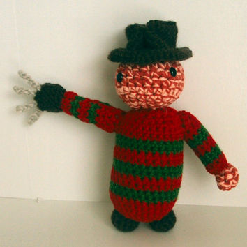Crochet Amigurumi Freddy Krueger A Nightmare on Elm Street Inspired Doll