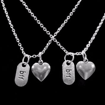 BFF Heart Best Friends Forever Gift For Best Friend Necklace Set