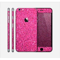 The Pink Sparkly Glitter Ultra Metallic Skin for the Apple iPhone 6 Plus