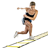 New Durable 9 rung 16.5 Feet 5M Agility Ladder for Soccer Speed Training Equipment BHU2