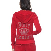 LOGO JUICY CROWN VELOUR ORIGINAL JACKET
