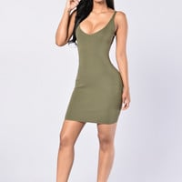 Rayleen Dress - Olive