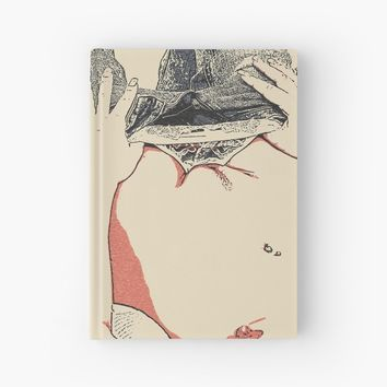 'ADULT! NSFW! And what do we have in here?' Hardcover Journal by sexyjustsexy