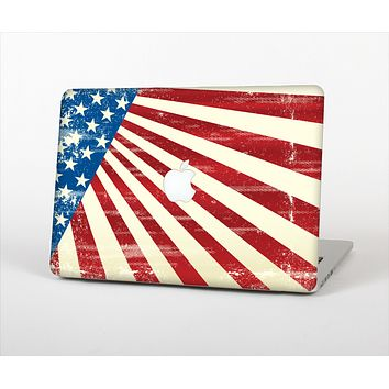 The Vintage Tan American Flag Skin Set for the Apple MacBook Pro 13""
