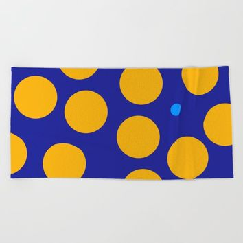 yellow dots Beach Towel by netzauge