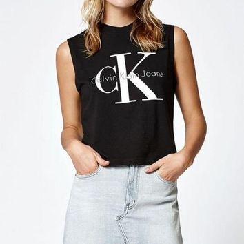 ONETOW Calvin Klein Reissue Logo Muscle Tank Top at PacSun.com