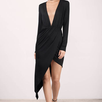 Angel Plunging Wrap Dress