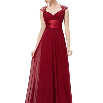Mother of the Bride Dresses Ever Pretty EP09672 V Neck Sequins Chiffon Mother of the Groom Dresses