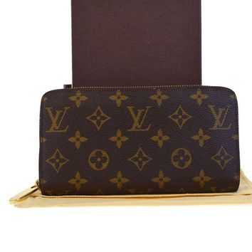 Kalete Authentic LOUIS VUITTON Long Zippy Wallet Purse Monogram Brown M60017 86ED178