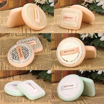 2Pcs/Lot Face Makeup Powder Puffs Foundation BB Cream Blender Soft Facial Blush Sponges Cosmetic Tools Blending Sponge Puffs