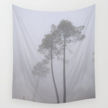 """Into the fog..."". Wonderful forest Wall Tapestry by Guido Montañés"