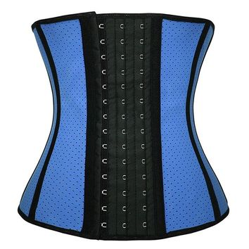Breathable Mesh Latex Waist Trainer Corset L7665-5