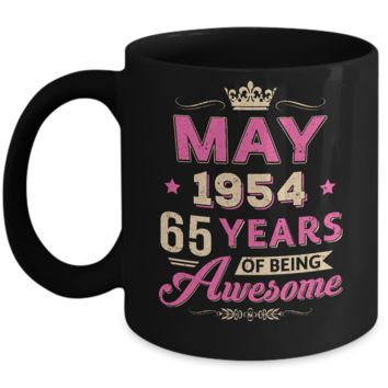 Vintage May 1954 65Th Birthday Gift Being Awesome Mug