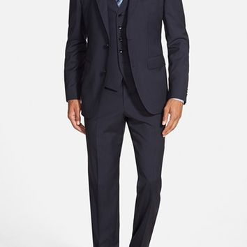 BOSS 'Johnstons/Lenon/We' Trim Fit Three-Piece Stripe Wool Suit