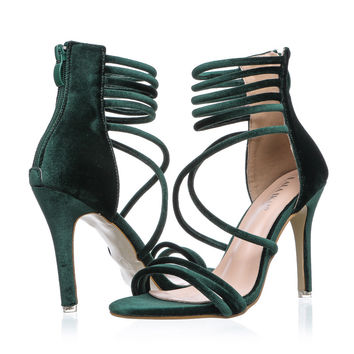 IKAI Velvet Strappy Sandals (Various)