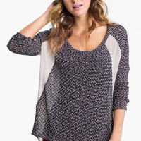 Lush Chiffon Back Sweater (Juniors) | Nordstrom