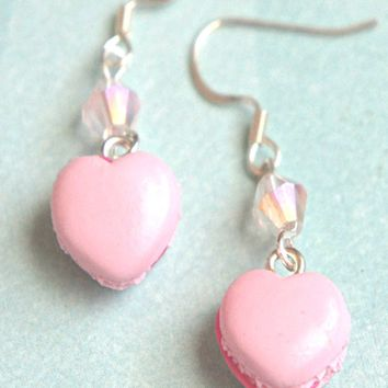 Heart Macarons Dangle Earrings