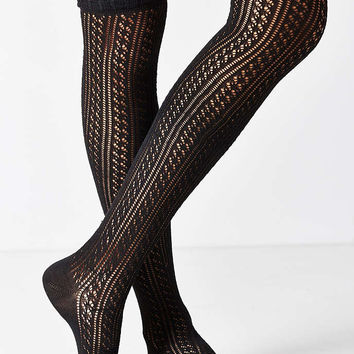 Crochet Double Cuff Over-The-Knee Sock - Urban Outfitters
