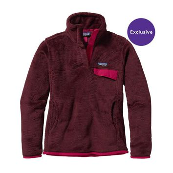 Patagonia Women's Re-Tool Snap-T® Fleece Pullover | Oxblood Red - Deep Mahogony X-Dye