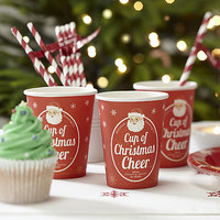 Vintage Inspired Christmas Paper Cups