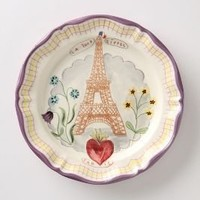 Francophile Dinner Plate, Eiffel Tower  - Anthropologie.com