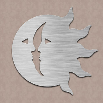 Sun & Moon Metal Wall Art
