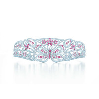 Tiffany & Co. - Tiara in platinum with pink spinels and round brilliant diamonds.