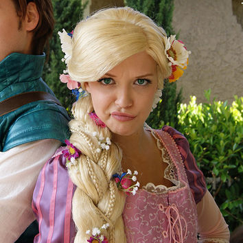 Rapunzel Tangled Inspired Adult Costume Wig  A by littlepennylane