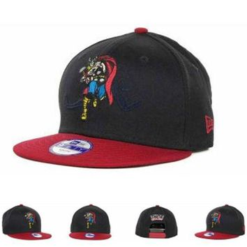 DCCKUN7 Marvel Thor Action Arch Snaps 9fifty Cap1 Cap Snapback Hat - Ready Stock