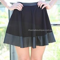 5TH AVENUE SKATER SKIRT , DRESSES, TOPS, BOTTOMS, JACKETS & JUMPERS, ACCESSORIES, 50% OFF SALE, PRE ORDER, NEW ARRIVALS, PLAYSUIT, COLOUR, GIFT VOUCHER,,SKIRTS,Black,MINI Australia, Queensland, Brisbane