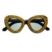 Unique Retro Glam Fashion Designer Large Cat Eye Sunglasses C1430