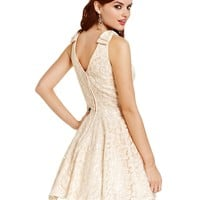 City Studios Juniors Dress, Sleeveless Lace Skater - Dresses - Women - Macy's