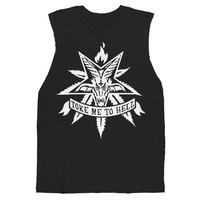 Pot Leaf Satan Muscle Tee - Toke Me To Hell UNISEX sizes S M L XL