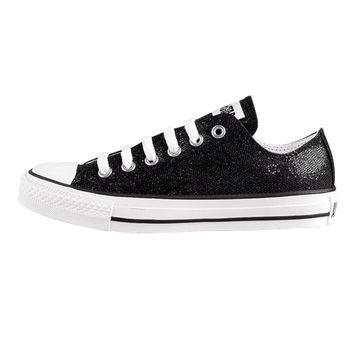 Converse All Star Lo Glitter Athletic Shoe, Black Sparkle  Journeys Shoes
