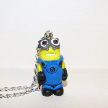 Two-eyed minion necklace