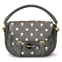 Loungefly Grey Skull With Dots Crossbody Bag - Bags