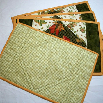 Leaf Print Placemat Set of 4