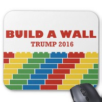 Build A Wall Trump 2016 Mouse Pad