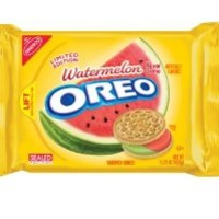 Nabisco Oreo Limited Edition Watermelon Flavored Golden Cookies (Pack of 4)