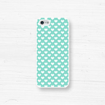 iPhone 5 4 Heart Case - Polka Dot - Samsung Galaxy s3, ipod touch - Love Valentines - Tiffany Blue -7