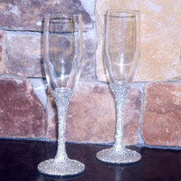 Crystal Champagne Toasting Flutes - FREE US SHIPPING