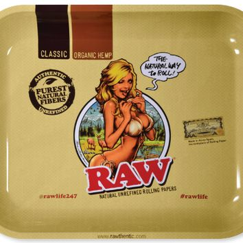 Raw Rolling Tray Girl (large)