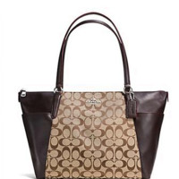 Coach Ava 12CM Signature Jacquard Zip Top Tote